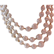 "Lavish 3 Strand ""POPCORN"" Pearl Necklace"