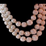 "Lavish 3 Strand ""POPCORN"" Pearl Necklace"