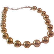 Kenneth J Lane gold Plate ball beads Choker/Necklace