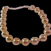Kenneth J Lane gold Plate ball beads Choker/Necklace