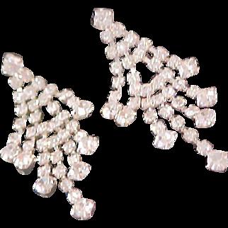 Diamante Dangle Post Earrings