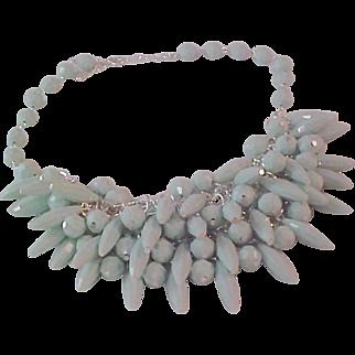 MID-CENTURY  Festoon Mint Green Necklace
