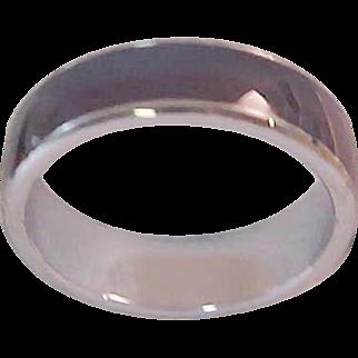 Nostalgic MOOD  RING ~ Silver Plated~ Circa 1960's ~ Size 8