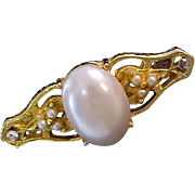 Victorian Style ~ Sim. Pearl & Tiny Seed Pearl Bar Pin