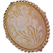 Lavish Old CAMEO Dress Clip