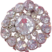 Exquisite ART DECO  Diamante Brooch