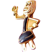 Rare 14k gold fill Willie Wirehead (the REDDY Kkatt  Collection Pin)