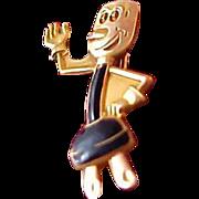 Rare 14k gold fill Willie Wirehead (the REDDY Kkatt  Collection Pin)