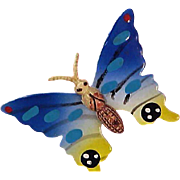 Whimsical  & Colorful Buttterfly ~Brooch