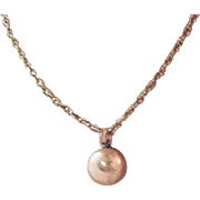 Lovely SOFTBALL ~ Gold Plate ~ Trademarked CYO (Catholic Youth Organization Pendant & Substantial Chain