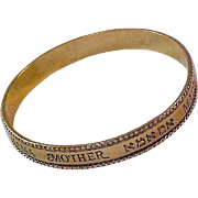 Avon's Gold Plate Bangle ~ Mother in many lauguages