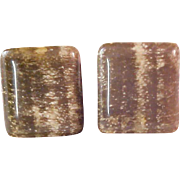 Art Deco ~ 1950's Shades of Variegted  of brown men's Cuff Links