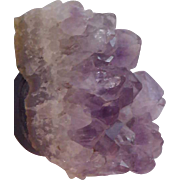 GENUINE  Raw AMETHYST  Natural POINTS from RIO  Brazil in Oct. 1961~ High Grade~Rio de Janerio, Brazil
