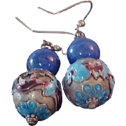 Lavish WEDDING CAKE ~Blue-Burgundy ~Silver~Peacock Teal ~Brown~Dangle Earrings