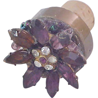 Simulated Wine Bottle Stopper (Cork) WINE : Etc :  Marquis Amethyst Color
