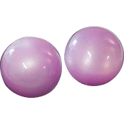 Lavender~Lilac 1930's MOON GLO Earrings