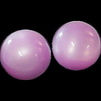 Lavender~Lilac 1930's MOON GLO Earrings