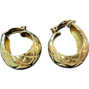 Charming Oval Hoops- Clip earrings