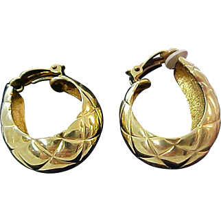 Charming Oval Hoops- Clip earrings
