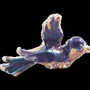 BALLOU Signed BLUEBIRD Gold Plate Lapel, Tie Tac Pin