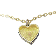 Traditional Glass  Embedded  MUSTARD SEED ~  Pendant & Chain Necklace