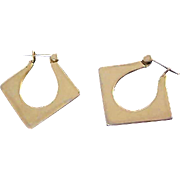 Retro Geometric Gold Plate Lever LEVER BACK  Earrings