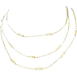 Exquisite SAUTOIR ~ Crown TRIFARI Filigree  Links ~.Trifari Key