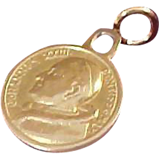 14K Gold ~ JOHN XXIII ~ Vatican City  in ROME, Italy Solid Gold ;14K Gold Medal