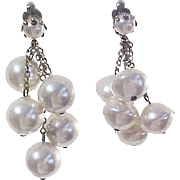 Spectaclular Simulated Pearl Earrings