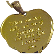 Footprints In The Sand ~ 14K Gold-Fill ~HEART ~ Bible Verse & FOOTPRINTS