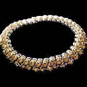 Honey AMBER Swarovski Rhinestone ~ Expandable Bracelet