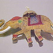 Copper & Brass ~ Trunk  Up ~ ELEPHANT Pendant