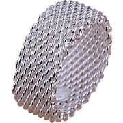 Sterling Silver Woven Mesh Ring
