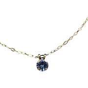 Lavish & Dainty Aquamarine Pendant & Gold Plated Chain