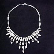 ART DECO~ Festoon - Bib Diamante Necklace-Choker