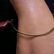 CARNELIAN QUARTZ Genuine Stone~ Gold Plate Bangle