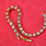 ART DECO - Pristine Cubic Zirconia Chaton Tennis Bracelet
