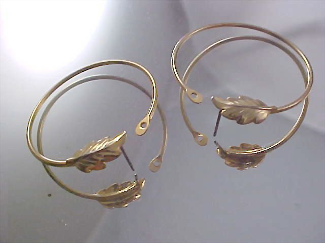 LAUREL LEAF Gold Plate Hoop Post Earrings