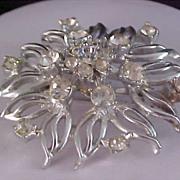 Fabulous ART DECO Diamante & Silver Plate Brooch