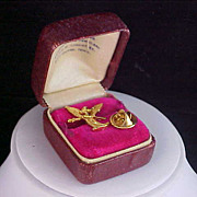 Exquisite Gold Plate ANGEL Lapel or Tie Tac