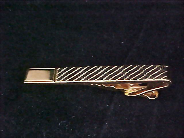 Fabulous 1950's Men's Tie Clasp/Tie Bar ~ Crafted in Gold Plate
