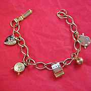 Charming Gold Plate Charm Bracelet