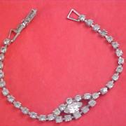 ART DECO - Diamante Chaton & Marquis Cut Diamante Bracelet
