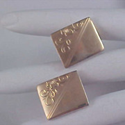 Gold Plate Engravable CUFF LINKS - Ornate Engravings
