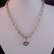 HEART Charm~Chain Link Choker/Necklace