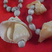 Seashells & Genuine Seed Beads from the Holy Land Necklace