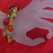 Charming (2) Lucite Crystal Expandable Bracelets