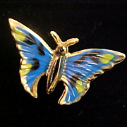 Fanciful~Whimsical BUTTERFLY  Enamel Pin/Brooch