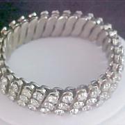 Three Row Diamante Expandable Bracelet