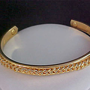 Ultra Fabulous ~ 24KT Gold Electro Plated Ornate Bangle
